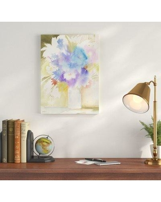 "Winston Porter 'Bouquet s' Painting Print on Wrapped Canvas, Canvas & Fabric in Blue, Size 32"" H x 24"" W x 2"" D 