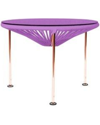 Brayden Studio Cobby End Table CTUV5924 Table Base Color: Copper Table Top Color: Orchid