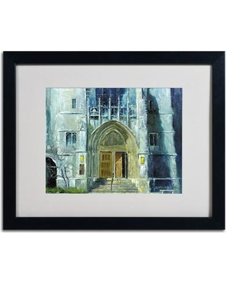 "Trademark Fine Art 'Chicago 1' Framed Painting Print on Canvas ALI0329 Size: 16"" H x 20"" W x 0.5"" D Frame Color: Black"