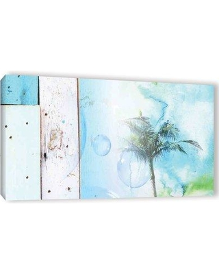 """Bay Isle Home 'Blue on Blue' Graphic Art Print on Wrapped Canvas BAYI7662 Size: 24"""" H x 48"""" W x 2"""" D"""