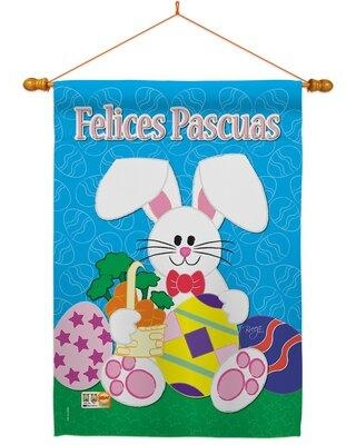 Find Savings On Breeze Decor Felices Pascuas 2 Sided Polyester 40 X 28 Flag Set In Blue Gray Size Medium 13 30 Wide Wayfair