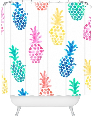 Dash and Ash Pineapple Paradise Shower Curtain Blue - Deny Designs
