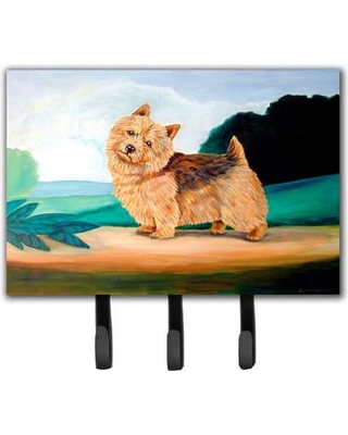Caroline's Treasures Norwich Terrier Leash Holder and Key Hook 7519TH68