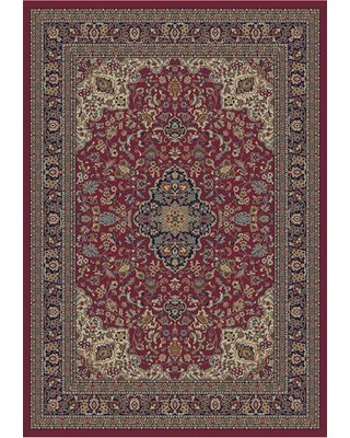 """Edmont Oriental Flatweave Red/Blue Area Rug World Menagerie Rug Size: Rectangle 6'7"""" x 9'3"""""""