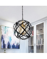 The Best Sales For Mascorro 1 Light Statement Globe Chandelier With Crystal Accents House Of Hampton