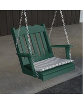 August Grove Pi Royal English Porch Swing AGRV3593 Color: Turf Green
