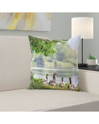 East Urban Home Wild Geese Throw Pillow W000991017