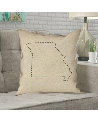 Find The Best Deals On Ivy Bronx Austrinus Missouri Dash Outline Double Sided Print Pillow Type Throw Pillow Material Poly Twill In Beige Ivory Cream Wayfair