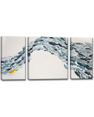 Highland Dunes 'Goldfish' Acrylic Painting Print Multi-Piece Image on Wrapped Canvas HIDN4820