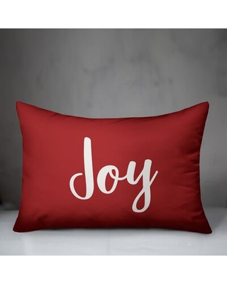 Gordy Joy Lumbar Pillow The Holiday Aisle® Color: Red