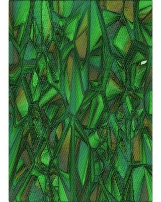 East Urban Home Patterned 2020 Green Area Rug W001463770 Rug Size: Rectangle 3' x 5'