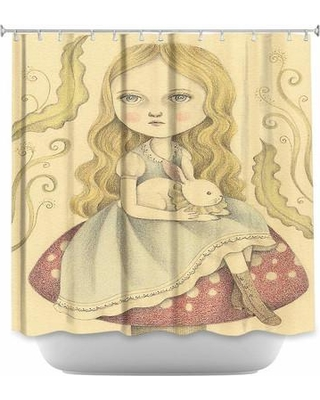 DiaNocheDesigns Alice Contemplating Single Shower Curtain SHO-AmaliaKAliceContemplating