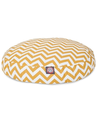 Majestic Pet Products Yellow Polyester Round Dog Bed (For Medium)   788995508250