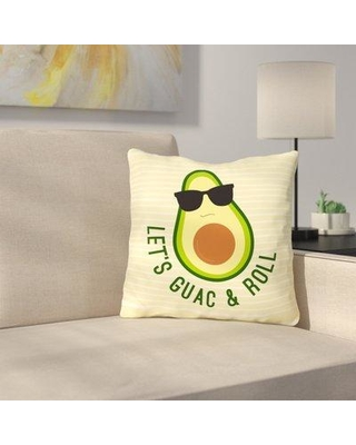 "Latitude Run Sparling Guac And Roll Throw Pillow LDER6404 Size: 18"" x 18"""