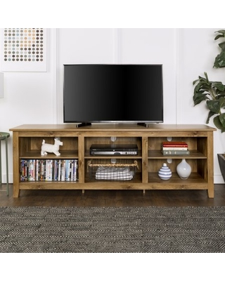 "Manor Park Wood TV Media Storage Stand for TV's up to 78"" - Barnwood"