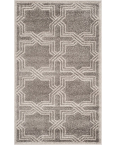 Gray/Light Gray Geometric Loomed Accent Rug - (3'X5') - Safavieh