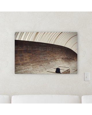 """Ebern Designs 'Abstract Point of View (80)' Graphic Art Print on Canvas BF100685 Size: 12"""" H x 36"""" W x 2"""" D"""