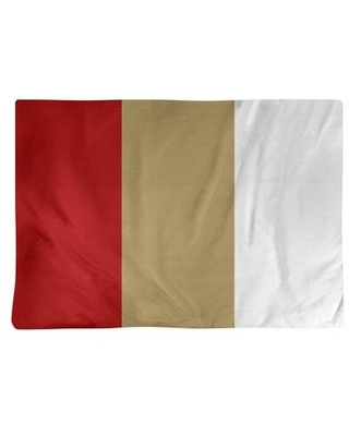 East Urban Home San Francisco Football Stripes Placemat - Cotton Twill EBJR4595 Color: Gold