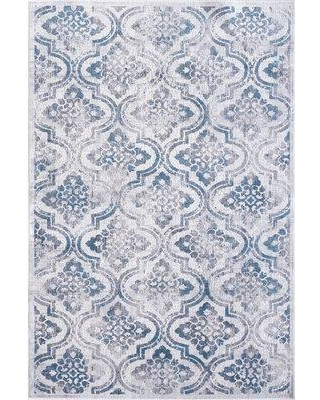 """Bungalow Rose Sparta Gray/Blue Area Rug BF087010 Rug Size: Rectangle 9'2"""" x 12'10"""""""