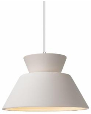 Justice Design Group Radiance 11 Inch Mini Pendant - CER-6420-BIS-CROM