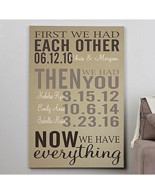 First We Had Each Other 28x42 Personalized Canvas Print