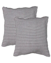 Find Big Savings On Wofford Houndstooth Cotton Throw Pillow Brayden Studio Color Red
