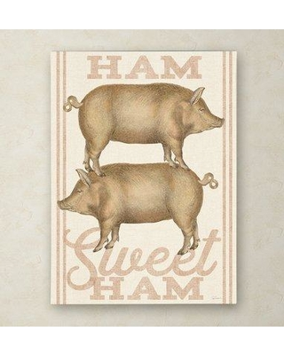 """Gracie Oaks 'Ham Sweet Ham' Graphic Art Print on Wrapped Canvas GCEO1529 Size: 47"""" H x 35"""" W x 2"""" D"""