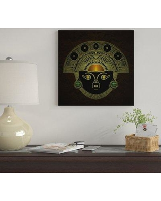 "East Urban Home 'Inti (Sun God Mask)' By Barruf Graphic Art Print on Wrapped Canvas EUME2900 Size: 18"" H x 18"" W x 0.75"" D"