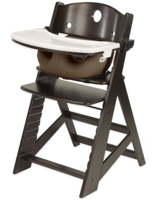 Keekaroo® Height Right High Chair Espresso with Infant Insert and Tray in Chocolate