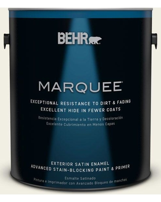 BEHR MARQUEE 1 gal. #PPU10-13 Snowy Pine Satin Enamel Exterior Paint and Primer in One
