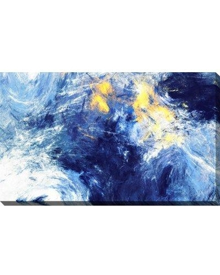 """Wrought Studio 'Deep Ocean' Acrylic Painting Print on Wrapped Canvas BI092294 Size: 28"""" H x 48"""" W x 1.5"""" D"""