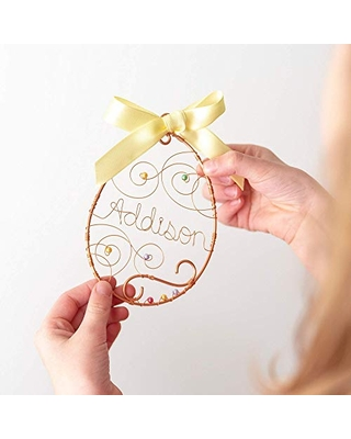 Personalized Easter Egg Ornament, Easter decorations, Easter Farmhouse Decor for the Home, Baby Gifts,