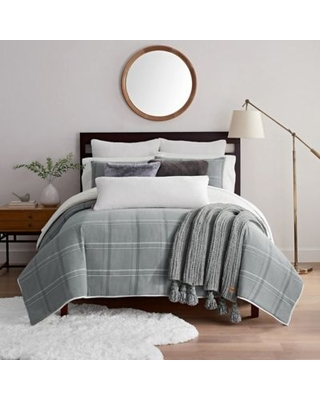 Sales For Ugg Bakersfield 3 Piece King Duvet Cover Set In Grey Plaid