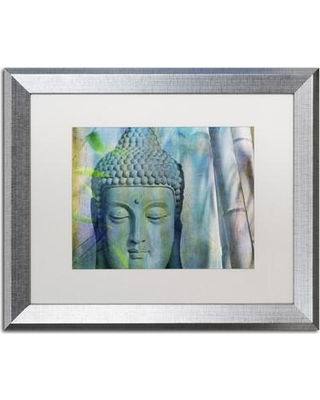 """World Menagerie 'Buddha with Bamboo' Framed Photographic Print WRME1596 Size: 16"""" H x 20"""" W x 0.5"""" D Frame Color: Silver"""