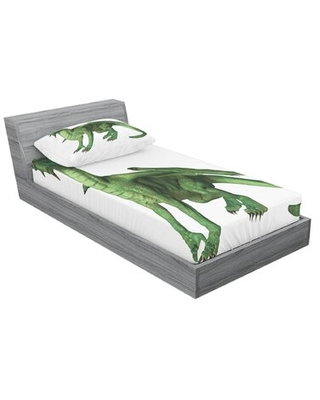 Animal Ugly But Dragon Standing and Looking Miniature Dino Sheet Set East Urban Home