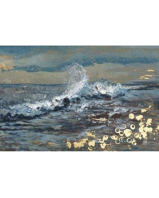 wrought studio gold on the coast acrylic painting print on wrapped canvas bf057779 size