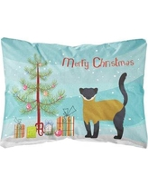 The Holiday Aisle Dunshee Throated Marten Christmas Indoor/Outdoor Throw Pillow BF148596