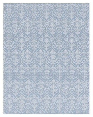 """One-of-a-Kind Hand-Knotted 7'9"""" x 9'9"""" Wool Area Rug in Light Blue Bokara Rug Co., Inc."""