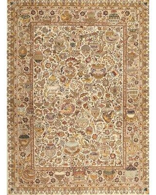 Bloomsbury Market Traditional Cream/Gray/Red Area Rug X112038124 Rug Size: Rectangle 3' x 5'