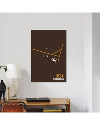 """East Urban Home Airport Diagram Series 'New Orleans (Louis Armstrong)' Graphic Art Print on Canvas URBH7133 Size: 18"""" H x 12"""" W x 0.75"""" D"""