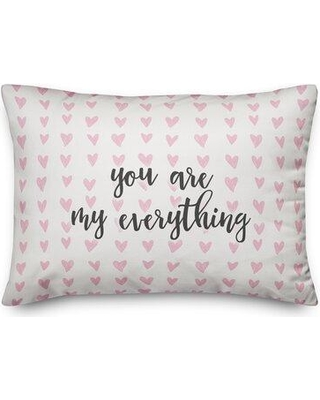 Ebern Designs SandpiperCove You Are My Everything Throw Pillow W000823433