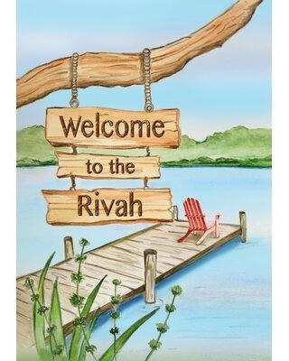 Big Deal On Toland Home Garden Welcome To The Rivah 28 X 40 Inch House Flag 1012046