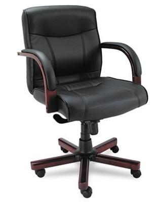 Find Deals On Madaris Series Faux Leather Executive Chair Alera