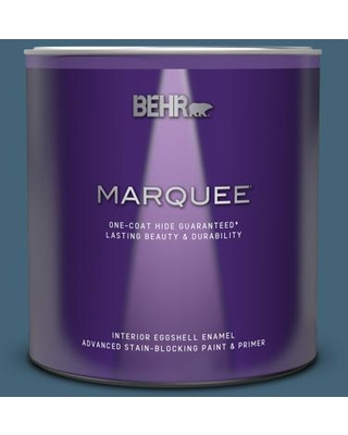 BEHR MARQUEE 1 qt. Home Decorators Collection #HDC-WR15-6 Winter Evening Eggshell Enamel Interior Paint and Primer