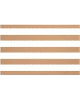 "Breakwater Bay North Bay Stripes Print Throw Blanket BRWT6004 Size: 60"" L x 50"" W, Color: Caramel (Brown)"
