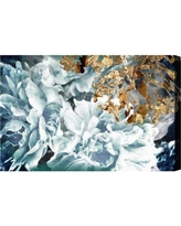 """Oliver Gal 'Dos Gardenias Light Turquoise' Graphic Art Print on Canvas 14202_ Size: 24"""" H x 36"""" W x 1.5"""" D"""