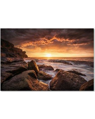 "Trademark Art 'Cape Solander' Photographic Print on Wrapped Canvas 1X02856-C Size: 22"" H x 32"" W"