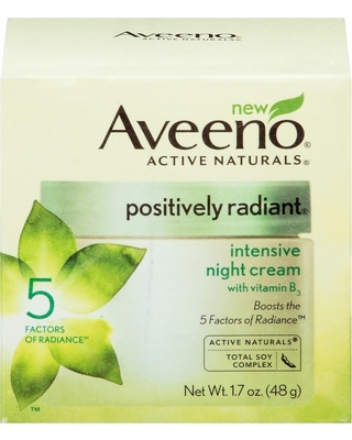 Aveeno Aveeno Positively Radiant Intensive Night Cream With Vitamin B3 - 1.7oz from Target | ShopFitness