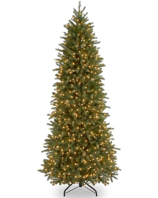 6.5 ft. Jersey Fraser Fir Pencil Slim Tree with Clear Lights