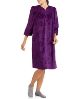 White Stag Women's Embossed Snap Front Breakfast Robe (Sizes S-4X)